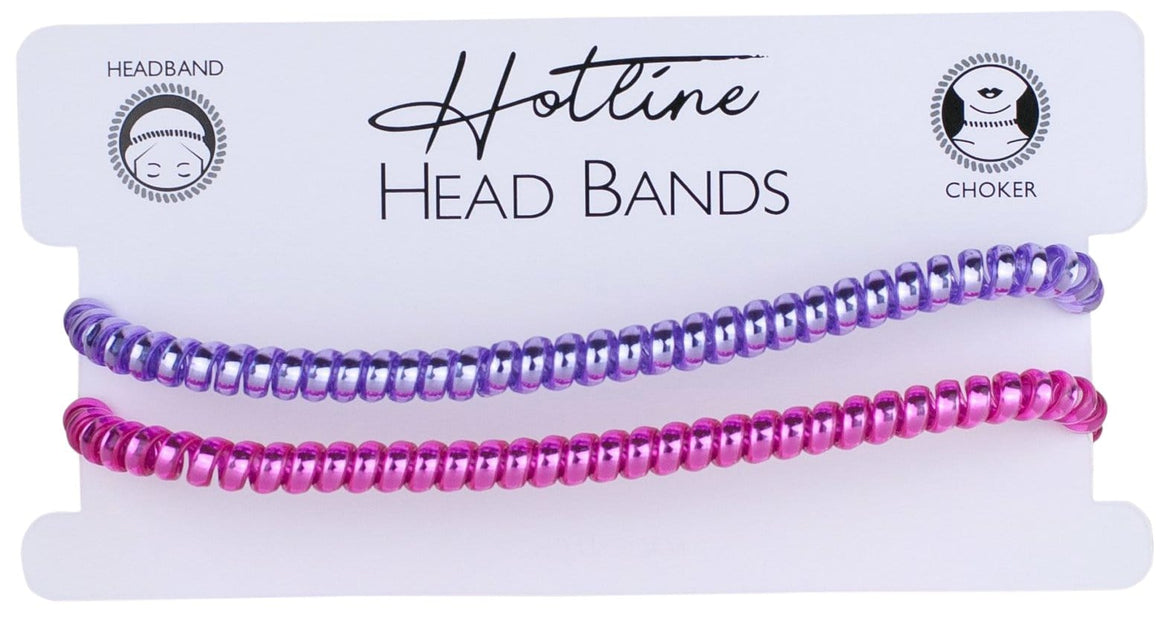 Purple & Pink Headband Set