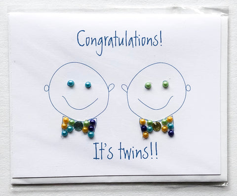 Congratulations! It's Twin Boys! Greeting Card