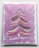 Christmas Tree Greeting Card Pink