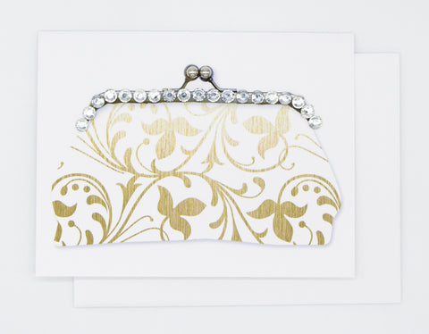 Gold Design Purse Greeting Card