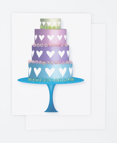 Heart Cake Greeting Card