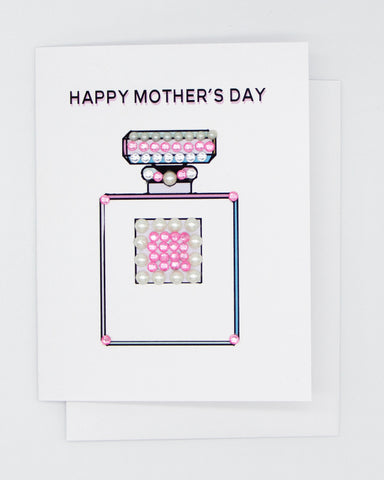 Happy Mother's Day Perfume Bottle Greeting Card