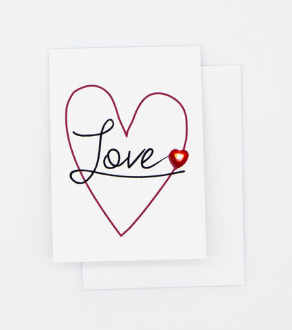 Love Heart Greeting Card Mini Size