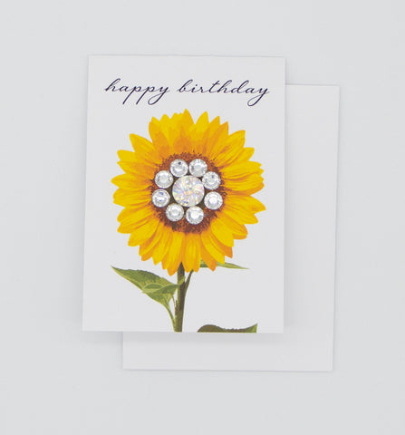 Happy Birthday Sunflower Greeting Card Mini Size