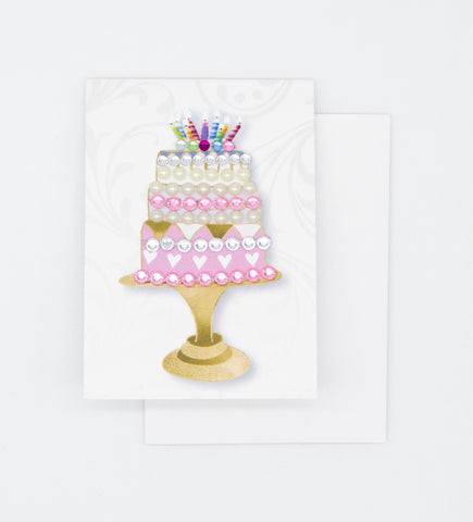 Three Tier Cake Greeting Card Mini Size