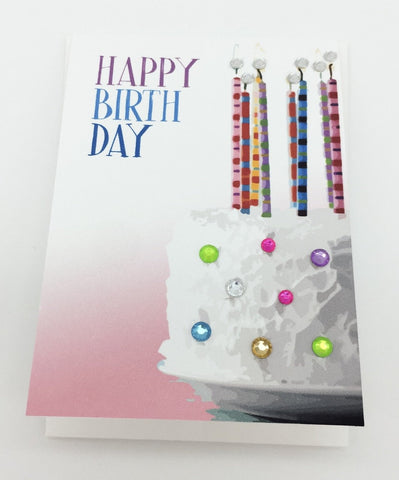 Happy Birthday Greeting Card Mini Size