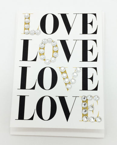 Love Love Love Greeting Card Mini Size