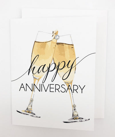 Happy Anniversary Champagne Greeting Card