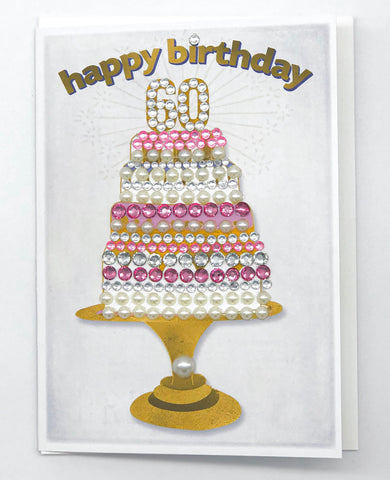 Happy 60th Birthday! Greeting Card 5x7 large card
