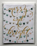 Merry Christmas - Merry and Bright! - Greeting Card
