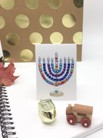 Menorah Greeting Tags Mini Size