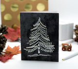 Christmas Tree Greeting Card Black