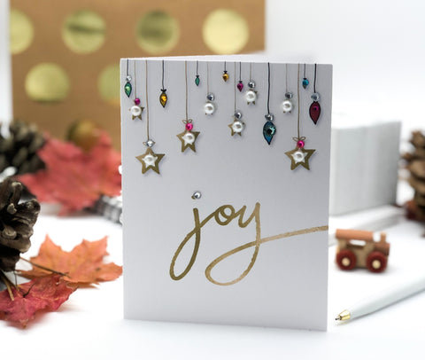 Merry Christmas Joy Greeting Card