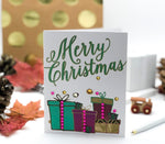 Merry Christmas! Holiday Greeting Card with presents
