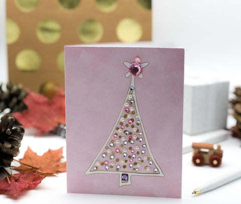 Merry Christmas Tree Greeting Card with star