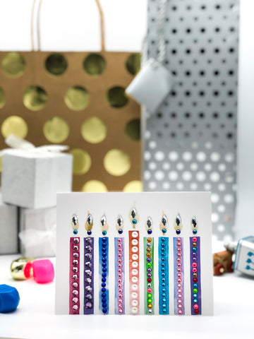 Modern Menorah Greeting Card