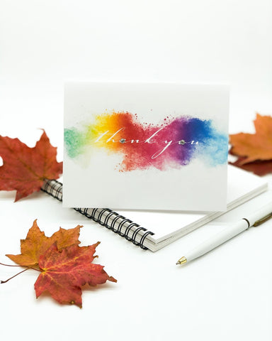 Thanksgiving Greeting Cards - Thank You Rainbow