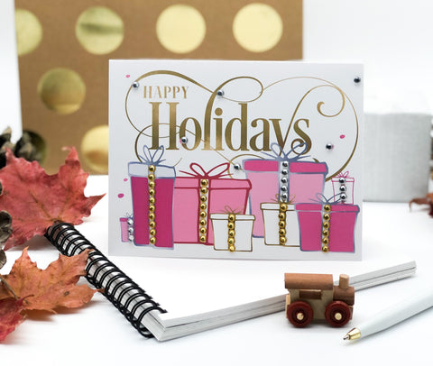 Happy Holiday Present Greeting Card