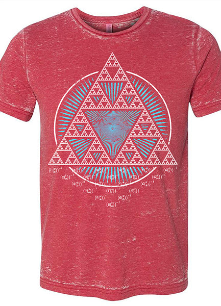 Sierpinski Triangle Red Acid Wash - Point 506
