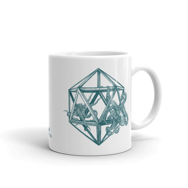 Icosahedron Octopus Sacred Geometry Coffee Mug - Point 506