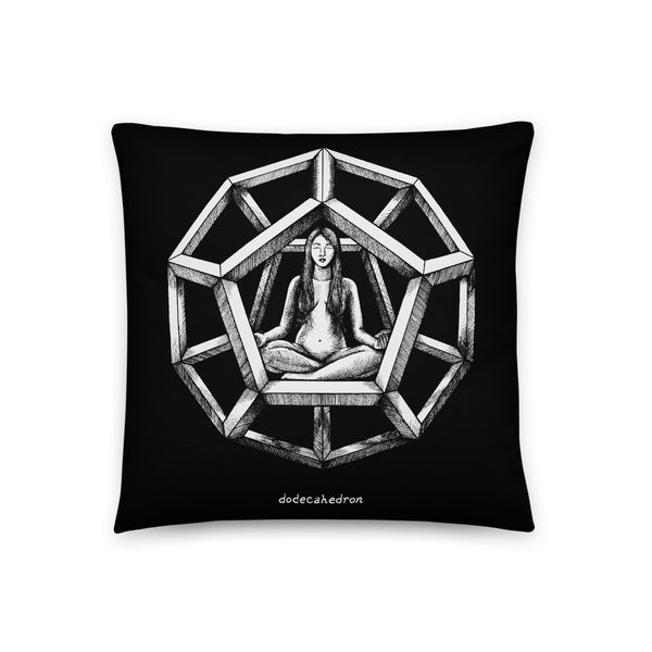 Dodecahedron - Throw Pillow - Point 506