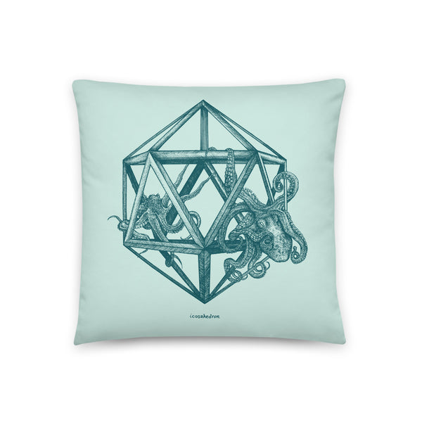 Icosahedron - Throw Pillow - Point 506