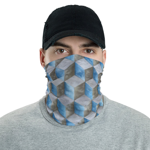 Face Mask/Bandana with Hexahedral Cloud Array