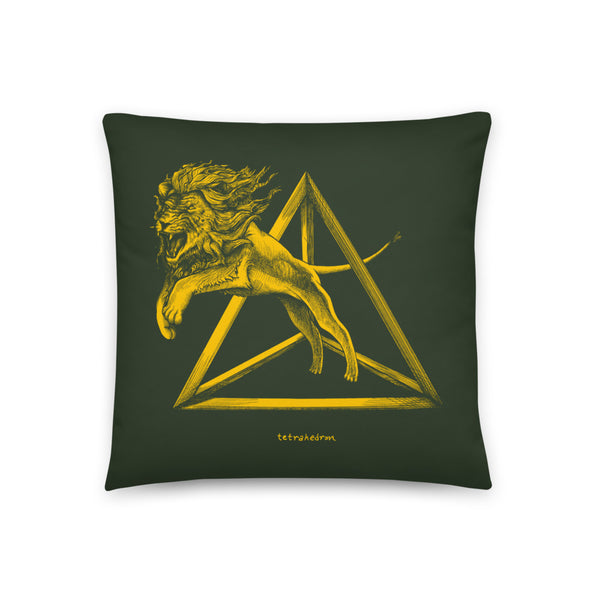 Tetrahedron - Throw Pillow - Point 506