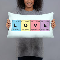 Periodic Table of Love Basic Pillow