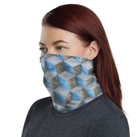 Face Mask/Bandana with Hexahedral Cloud Array - Point 506