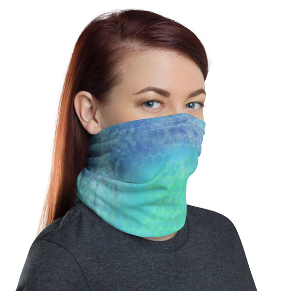 Face Mask/Bandana with Ombre Honeycomb