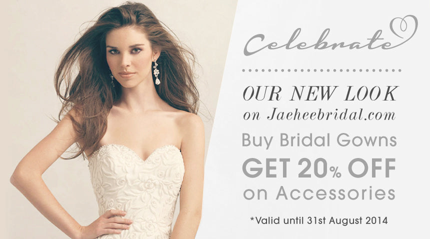 Celebrate Our New Look On Jaeheebridal.com