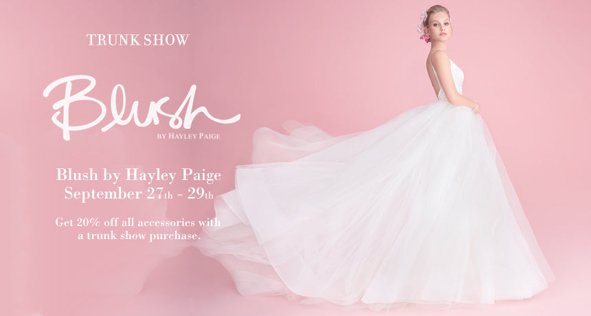 Trunk Show Blush by Hayley Paige 2018