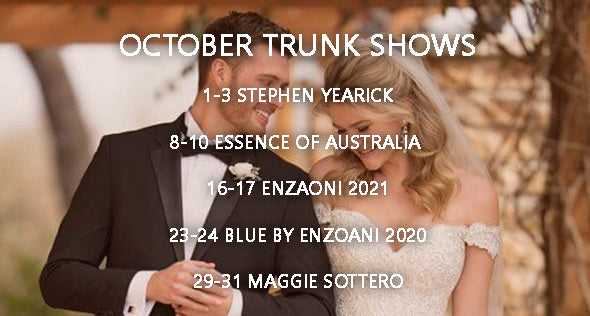 OCTOBER 2020 TRUNK SHOWS