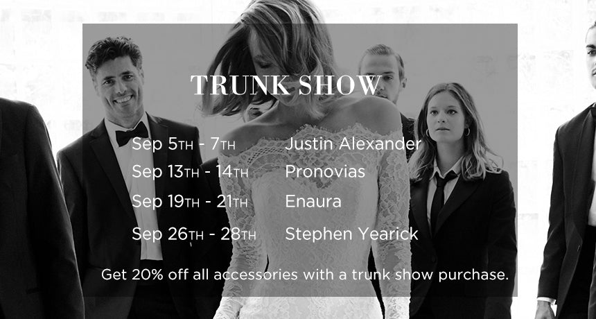 September Trunk Shows