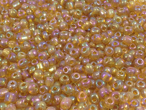 Perles de rocailles 4 mm - Multicolore transparent - 20g