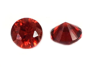 Cabochons zirconium grade A - Rouges - 3 mm - x 10