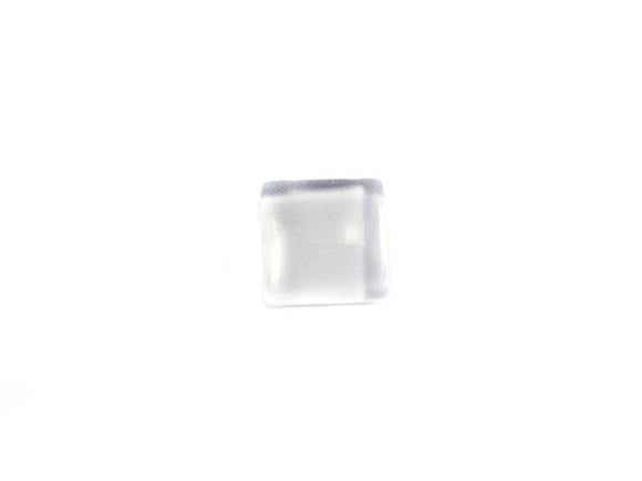 Cabochon loupe carré transparent - 10 mm - x 1