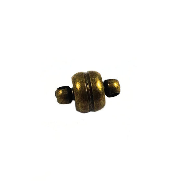 Fermoir aimanté  - Couleur bronze - 11x7 mm - x 1