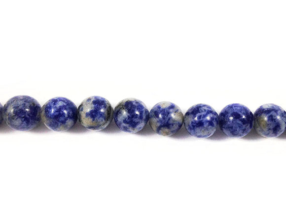 Sodalite naturelle - Perles rondes - 8 mm - x 10