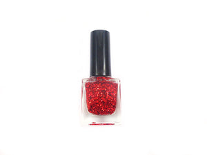 Vernis à ongles - Paillettes rouges - x 1