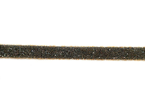 Bande thermocollante Crystal Fabric Swarovski 10 mm - C. Copper Noir - X 10 cm