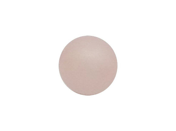 Perle ronde Polaris - 12 mm - Light Rose Mat - x 1