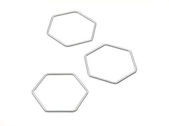 Intercalaire hexagonal - 20 mm - Argent 925 - x 1