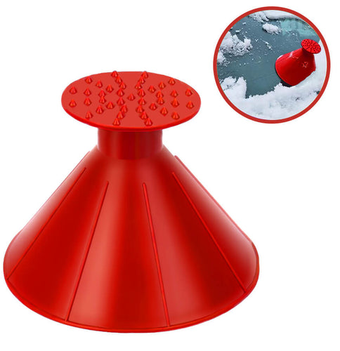 Ice Scraper Cone-Shaped Car Windshield Snow Removal Funnel Tool