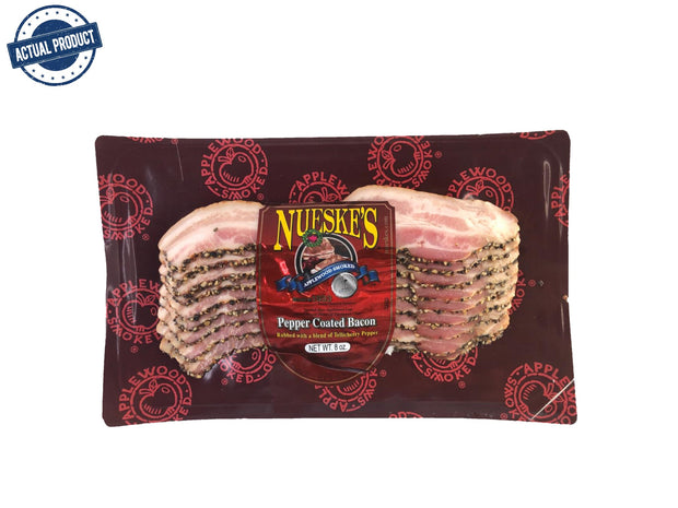 Sliced Applewood Smoked Bacon, Pepper Coated (227g)
