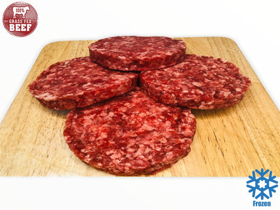 Grassfed Beef Burger Patties - 113g (pp) (4pcs) - Frozen