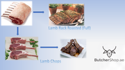 Lamb Rack, Cap-On Frenched, 7-8 Ribs - Australia (0.8 - 1.1kg)