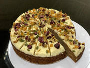 Carrot Cake Decorated, Round Pre-cut  (25cm/2kg) - Frozen
