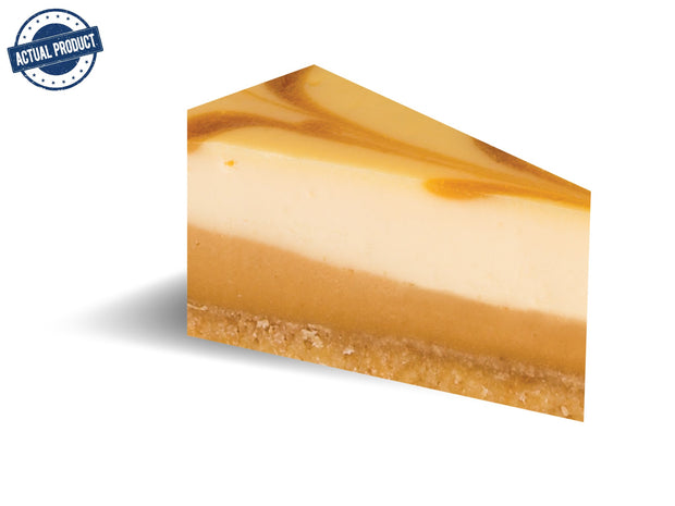 Salted Caramel Baked Cheese Cake, Round Pre-cut  (25cm/1.6kg) - Frozen